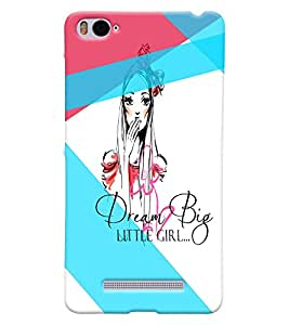 Fuson Cute Girl Back Case Cover for XIAOMI Mi4i - D3654
