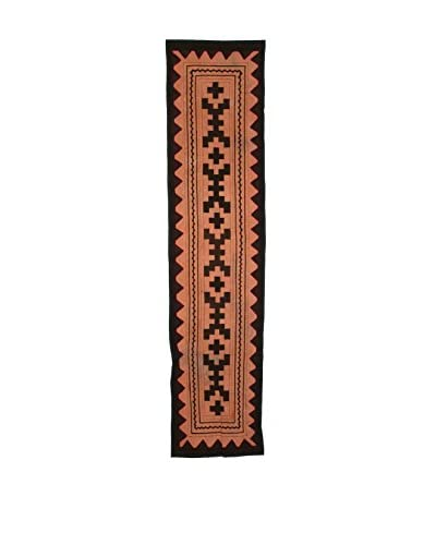 Uptown Down Found Peruvian Woven Table Runner, Brown/Tan As You See