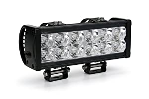 "SAE (SW12215-36F) Economy Double Row Black 10"" LED Flood Light Bar"