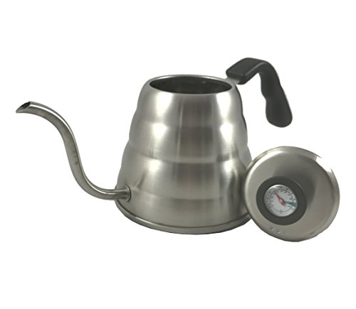 POUR OVER Coffee Kettle 1.2L with THERMOMETER from Coffee Culture - For the Best Hand Drip Coffee
