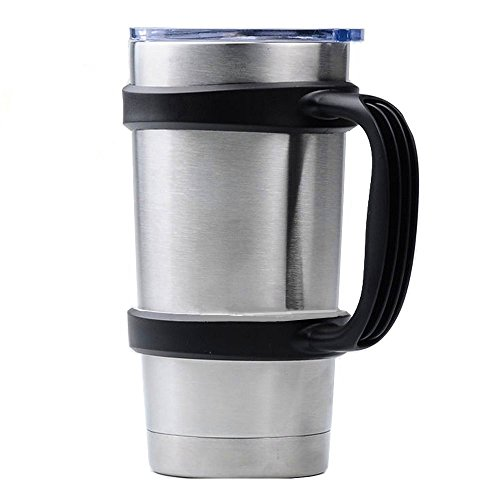 Handle for Yeti Rambler 20 oz Tumblers, Rtic, Sic Cup and more(Only New Black Handle)