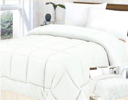 Goose Down Alternative Luxury Comforter (Duvet) King Size, White / White front-890737