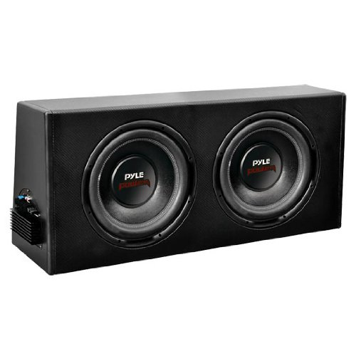 Pyle Plpr210A Dual 10-Inch Slim Design Powered Enclosure System