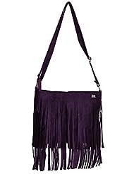 Glitter Glory Purple Fringe Ladies Sling Bag