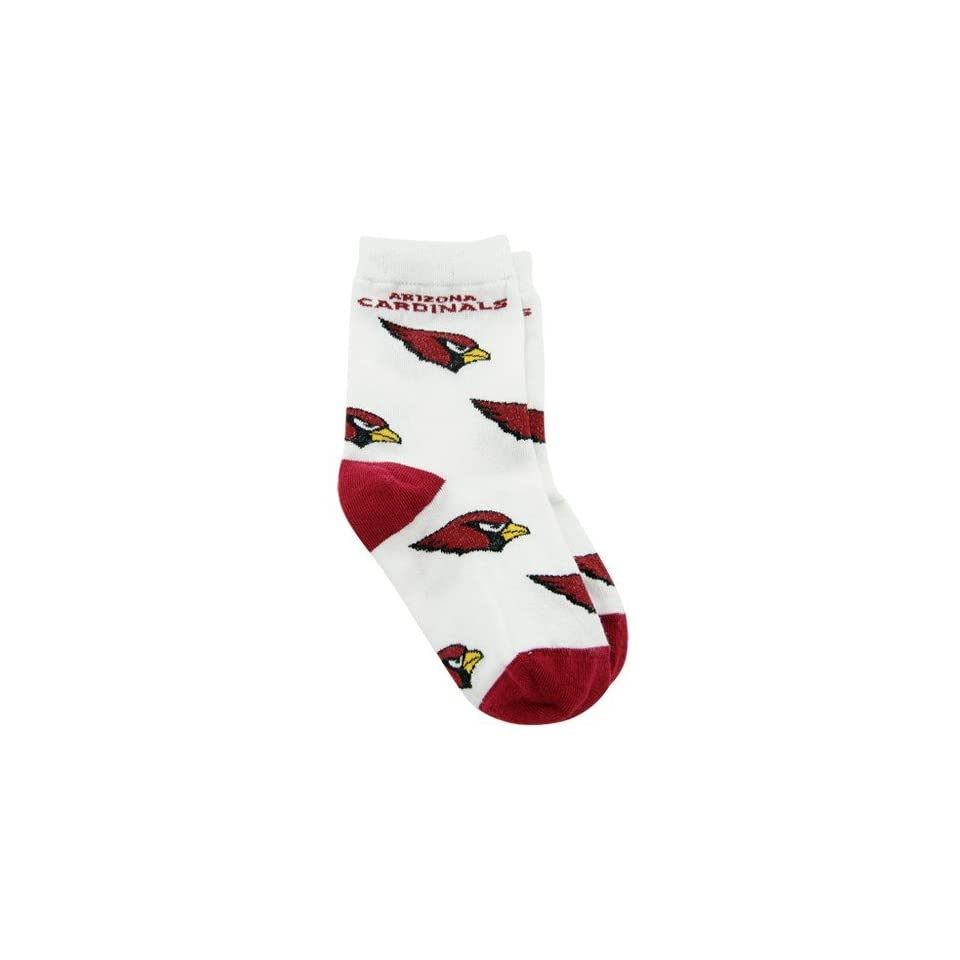 NFL Arizona Cardinals Toddler White All Over Team Logo Bootie Socks