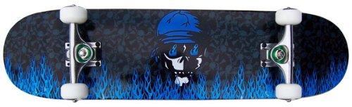 PRO Skateboard Complete KROWN Blue Flame 7.75 in