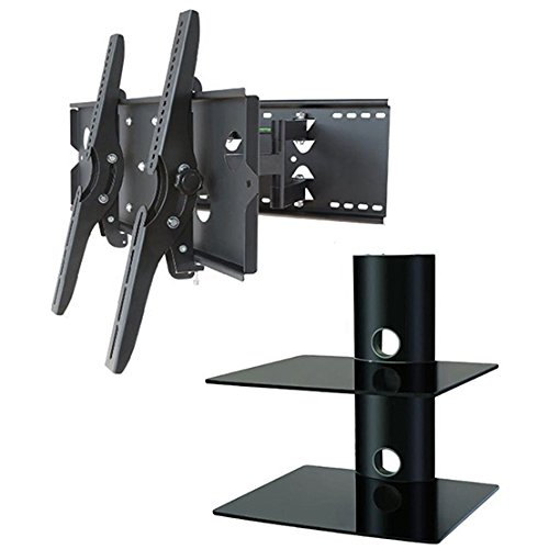 awardwiki 2xhome new tv wall mount bracket dual arm secure cantilever. Black Bedroom Furniture Sets. Home Design Ideas