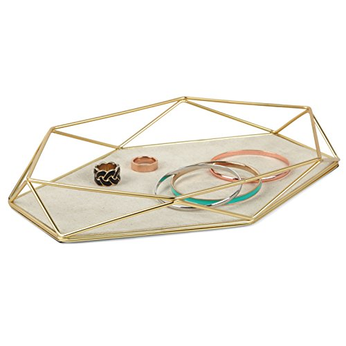 Umbra Prisma Jewelry Tray, Matte Brass