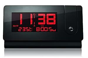 Oregon Scientific RMR391P Reveil projecteur design Affichage des temperatures interieure/exterieure Ecran LCD à gros chiffre Design fin et stylise Projette l'heure et l'Icone de l'alarme