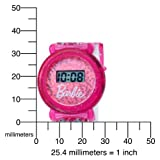 Kids' 3500014 Character Pink Sparkling Dial Barbie Digital Watch