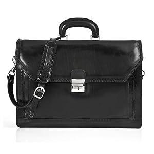 Alberto Bellucci Capri Triple-Gusset Flap Over Briefcase from Alberto Bellucci