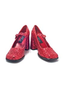Ellie Shoes Women's 300-EDENG Red Glitter Shoes 11 B(M) US from Ellie Shoes
