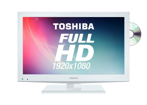 Toshiba 22DL704B 22-inch Widescreen Full HD 1080p LED TV with Freeview and Built-in DVD Player (2012 model)
