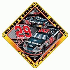 KEVIN HARVICK CAUTION SIGN by NASCAR