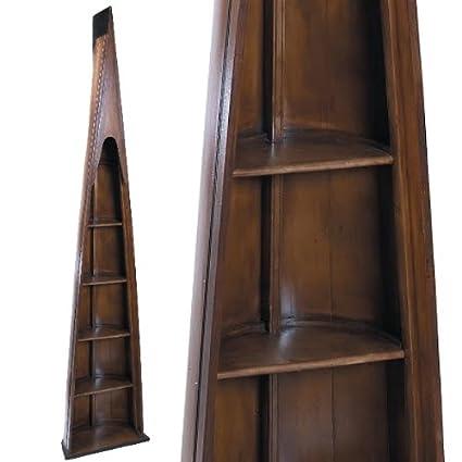 Propassione Oxford uomo di otto libreria, design antico, color noce, 4ripiani, H 216.5x L 46.5x P 25cm
