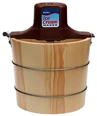 Rival 8550-X 5-Quart Wooden Electric Ice Cream Maker from Rival