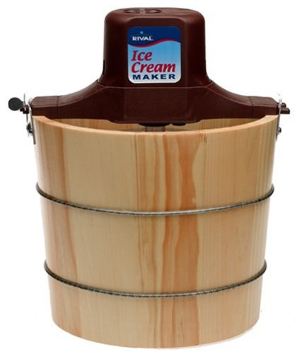 Rival 8550-X 5-Quart Wooden Electric Ice Cream Maker