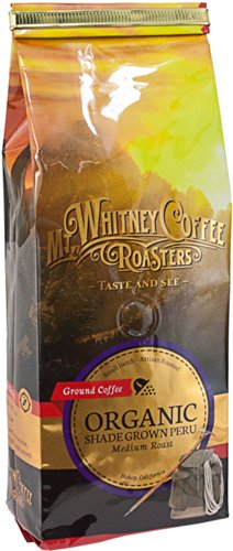 Mt. Whitney Coffee Roasters: 12 Oz, Usda Certified Organic Shade Grown Peru, Single Origin, Medium Roast, Ground Coffee