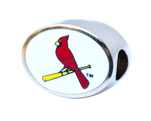 St. Louis Cardinals Charm Bead Fits Most Pandora Style Bracelets Including Pandora, Chamilia, Biagi, Zable, Troll and More at Amazon.com