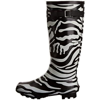 Lunar Women's Zebra Wellingtons Boots