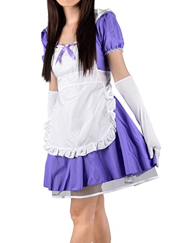 Simplicity Sexy Anime French Maid Costume with Apron and Gloves