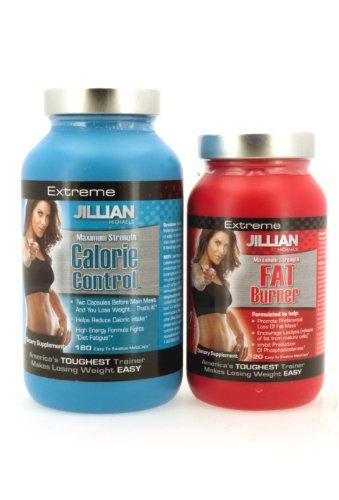 2 Pack-jillian Michaels Maximum Strength 180 Metacaps of Calorie Control & 120 of Fat Burner
