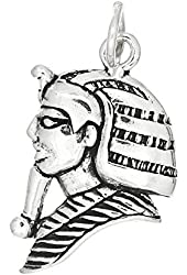 Sterling Silver One Sided King of Egypt Pharaoh Charm Pendant