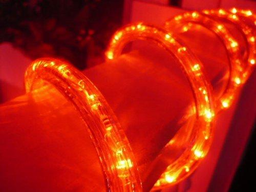 50ft Vivid Red 3 Wire Chasing Led Rope Light Kit Christmas Lighting