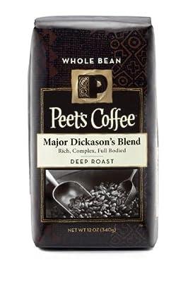 Peet's Coffee Major Dickason's Whole Bean Coffee (Dark), 12 oz