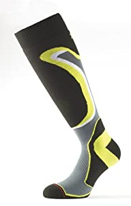 1000 Mile Men's Snow Sports Sock - Black/Yellow, Large(9-11.5 Inch)