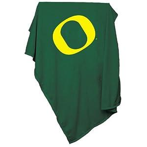 Oregon Ducks NCAA Sweatshirt Blanket Throw by Logo Chair