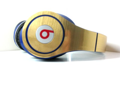 Gold Studio Decal Compatible With Beats By Dr Dre