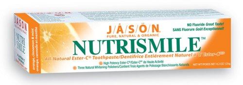 Jason Natural Cosmetics Nutrismile Toothpaste, Orange, Cinnamon & Mint, 4.2 Ounces