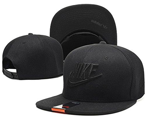 Cappello Nike regolabile Hip Hop Sport Fans Hyst Unisex eresen cappellino da Baseball (Nero, Logo nero, 1)