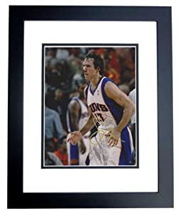 Steve Nash Autographed Hand Signed Phoenix Suns 8x10 Photo - BLACK CUSTOM FRAME by Real Deal Memorabilia