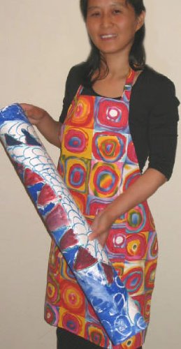 Twinklebelle Aprons in Swirlicues Print, Canvas Art Apron, for Cooking, Gardening, Crafting