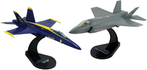 Smithsonian Deluxe InAir E-Z Build F-35A & F-18 Blue Angels Model Kit - Two Pack