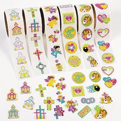 INSPIRATIONAL STICKERS ON A ROLL (600 PIECES) - BULK