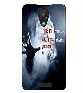 Fuson Smoky Hand Back Case Cover for XIAOMI REDMI 3S - D3640