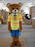 New Brown Teddy Bear Adult Mascot Costume thumbnail