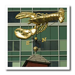 ht_90967_3 Danita Delimont - Boston - Massachusetts, Boston harbor, Lobster Weather Vane - US22 WBI0145 - Walter Bibikow - Iron on Heat Transfers - 10x10 Iron on Heat Transfer for White Material