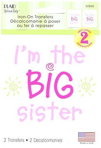 Uptown Baby Color Transfer Iron-Ons 2/Pkg-I'm The Big Sister (Iron Sister compare prices)
