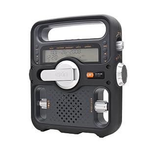 Etón FR600B Solarlink Self-Powered Digital AM/FM/SW/NOAA S.A.M.E. Weather Radio with Flashlight, Siren, <a href=