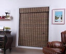 Vera Guinea Bamboo Roman Shade - Free Shipping, 29x54