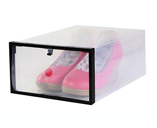 Smartonly Multifunctional Shoe Boxes Clear Smart Storage Foldable Shoe Box,Set of 2 (Jordan Shoe Storage Box compare prices)