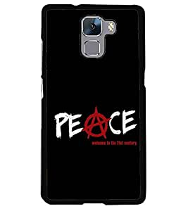 printtech Peace Quote Back Case Cover for Huawei Honor 7 Enhanced Edition , Huawei Honor 7 Dual SIM with dual-SIM card slots