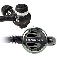 New Oceanic Delta 4.2 Swivel FDX-10 DVT Scuba Diving Yoke Regulator with FREE Upgrade to 30 Inch (76.2cm) Black MaxFlex Braided Hose & FREE Annual Service Kits for Life Program