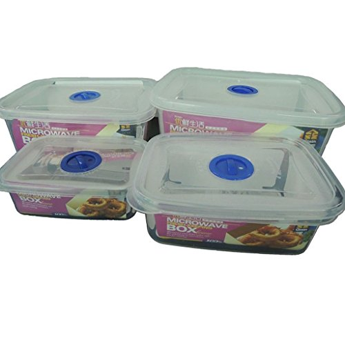 NEW Food Saver Storage Containers Plastic Set of 4 Free BPA MICROWAVE BOX (Foodsaver 1 Gallon Bags compare prices)