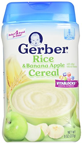 Gerber 2nd Foods Baby Cereal - Rice Banana Apple - 8 oz (Gerber Banana Rice Cereal compare prices)
