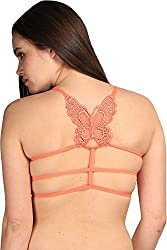 BYC Butterfly Strings Women's Sports Orange Bra